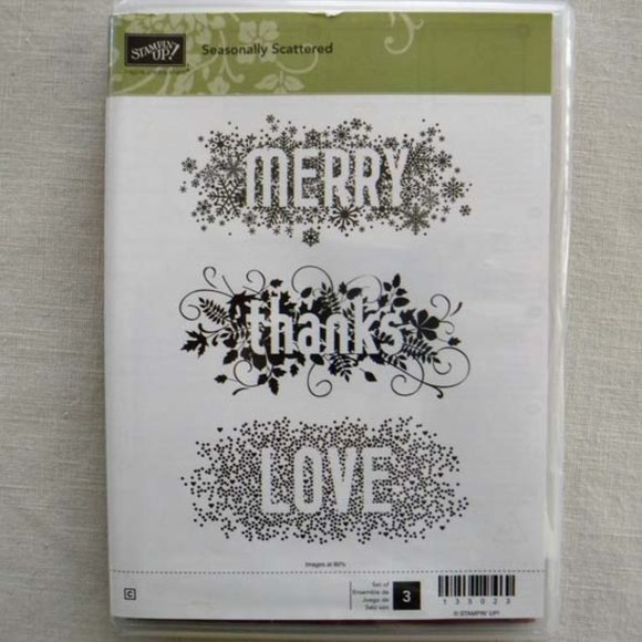 Stampin' Up! Seasonally Scattered Cling Stamp Set